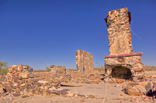 Crumbling Past Of Tonopah AZ. The Ghostly Remains Of An Old Homestead In Tonopah AZ.