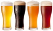 Leinwanddruck Bild - Four glasses with different beers
