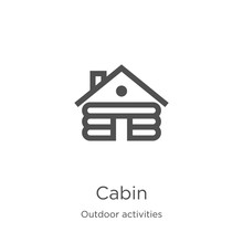 Cabin Icon Vector From Outdoor...