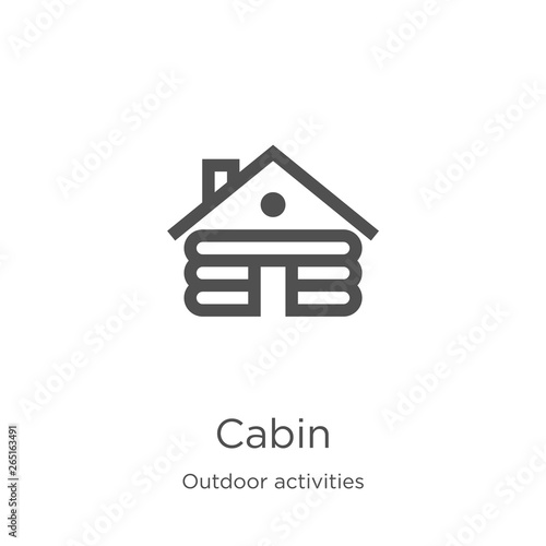 Canvas Print cabin icon vector from outdoor activities collection