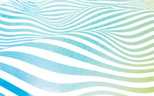 Abstract Water Movement Stripes, Texture Made By Hand Painted Watercolor Texture. Stylized Flowing Water 3d Illusion. Graphic Line Art.