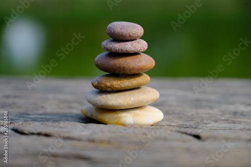 Foto op Aluminium Stenen in het Zand Zen stone at the historic site