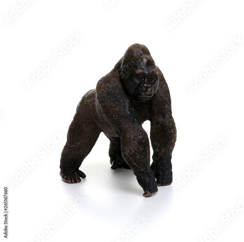 Toy gorilla  isolated on white Fototapeta