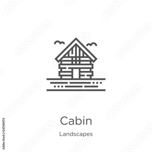 Foto cabin icon vector from landscapes collection