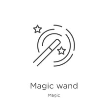 Magic Wand Icon Vector From Ma...