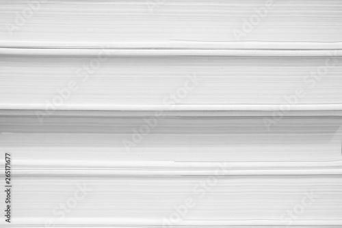 Valokuva  Close up White Book Background.