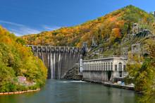 Cheoah Dam In Cherohala Skyway In North Carolina, USA