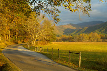 Cades Cove In Great Smoky Mountains In Late October, TN, USA