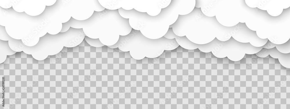 Fototapeta Clouds volumetric illustration