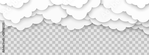 Clouds volumetric illustration