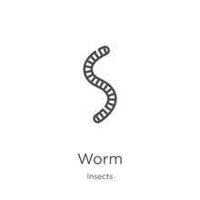 Worm Icon Vector From Insects ...