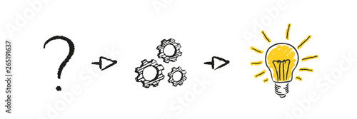 Fototapeta Problem - Problemlösung - Idee - Glühbirnen obraz