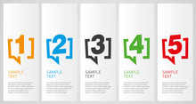 Colorful Infographics Design Vector Layout Business Concept 1 2 3 4 5 Option Step Process