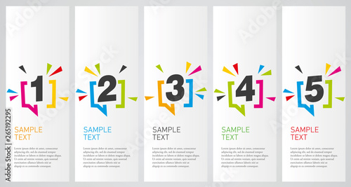 Fototapeta Colorful infographics design vector layout business success concept 1 2 3 4 5 option step obraz