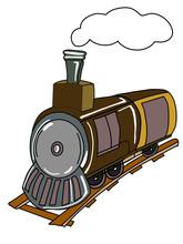 Train Illustration Drawing White Background