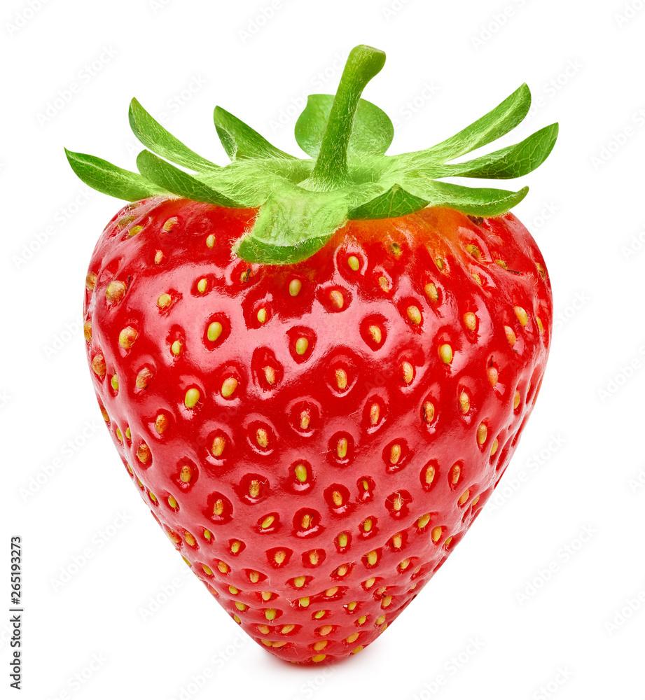 Fototapety, obrazy: Strawberry isolated on white