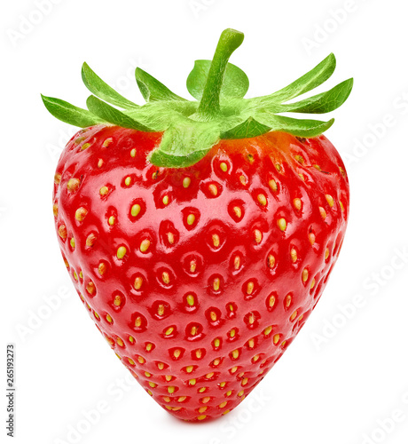 Fototapety, obrazy: Strawberry isolated on white