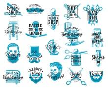 Barbershop Beard And Mustache Shaving Lettering