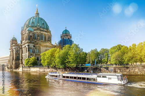 berlin cathedral on a sunny day Canvas Print