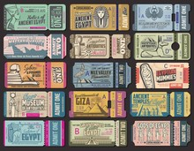 Egypt Ancient Culture Tourist Tour Tickets