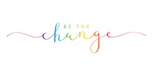 BE THE CHANGE Brush Calligraph...