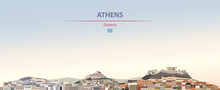 Vector Illustration Of Athens ...