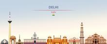 Vector Illustration Of Delhi C...