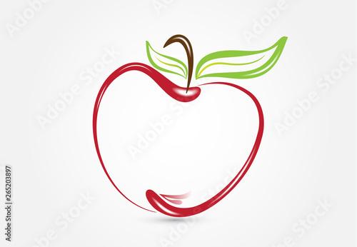 Cuadros en Lienzo Apple silhouette logo