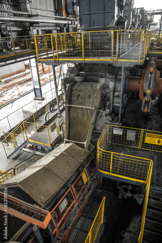 Industrial sugar conveyor production line factory cane bagasse Canvas Print