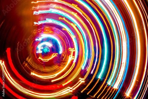 Papiers peints Spirale colored circles spiral
