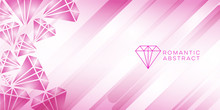 Diamond Pink Abstract Backgrou...
