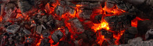 Burning Coals From A Fire Abst...