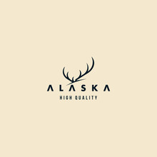 Alaska Elk And Horn Modern Logo Design Inspiration