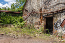 Outside What Remains Of An Old Abandoned Steel Plant