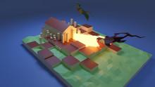 Dragons Attacking A City Castl...