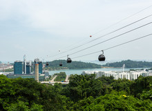 Cable Car In The Singapore