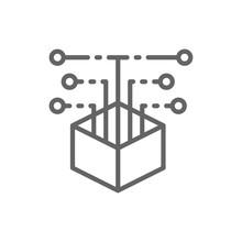 Open Source Code, Web Development Line Icon.
