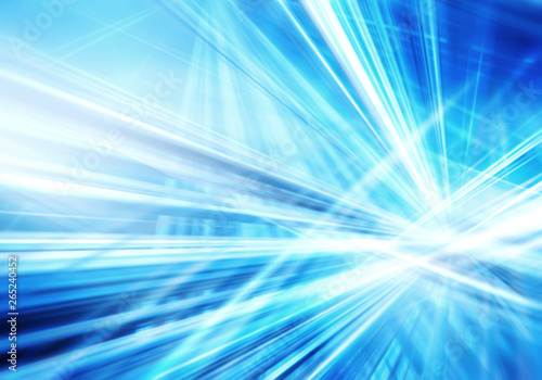 Obraz abstract background with straight intersected luminous blue and white lines - fototapety do salonu