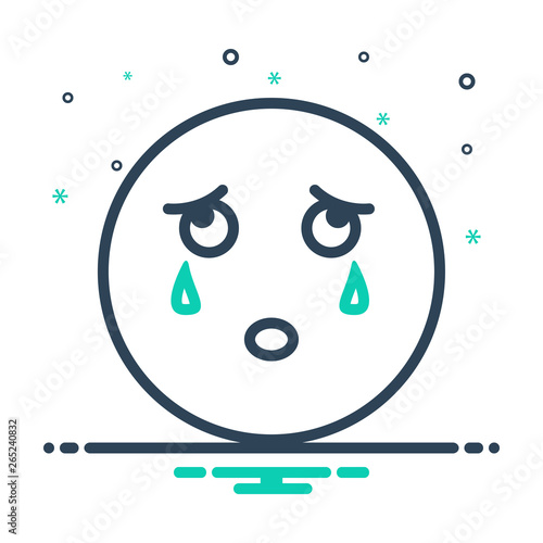 Mix line icon for cry weep Wallpaper Mural