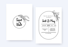 Minimalist Wedding Invitation ...