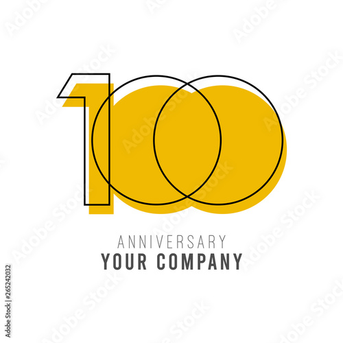 Fotografia  100 Year Anniversary Vector Template Design Illustration