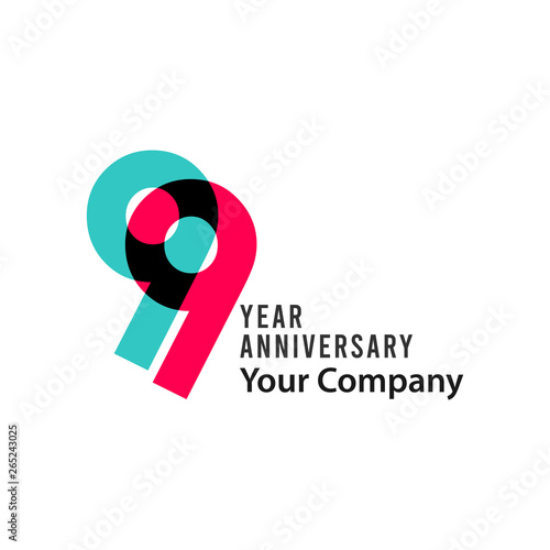Photographie  99 Year Anniversary Vector Template Design Illustration