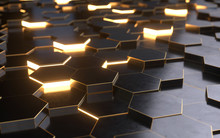 3d Hexagons Background Design,technology Concept,3d Rendering,conceptual Image.