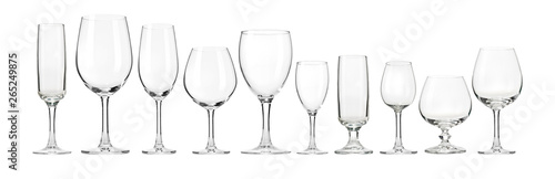 Cadres-photo bureau Alcool Empty wine glasses