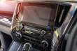 Screen multimedia system in luxury car.Modern car dashboard.
