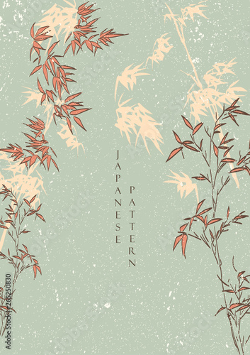 Photo  Flower template set in Japanese style