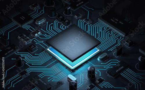 Cuadros en Lienzo  Central Computer Processors CPU concept