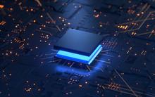 Central Computer Processors CPU Concept. 3d Rendering,conceptual Image.