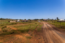 A Rural Village In The Homelands Of Kwa Zulu Natal Near Creighton, South Africa.