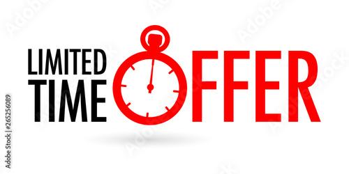 Fotografie, Obraz Limited time offer